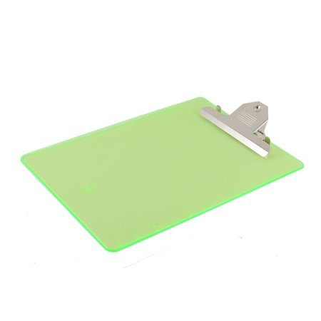 Office Plastic A4 Paper Holder Writing Board Clipboard Clear Green 315 x 230mm](Santa Beards For Sale)