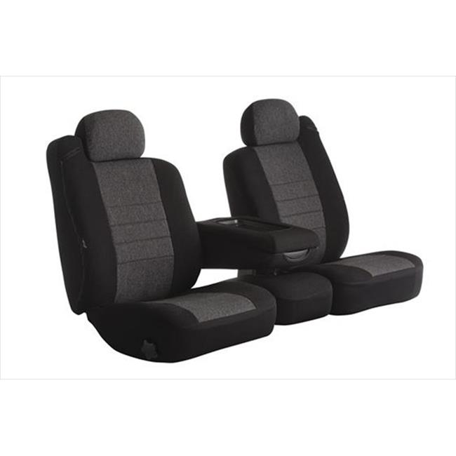 OE3825C Charcoal Split Bench With Adjustable Headrests Seat Cover
