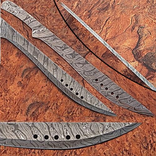 Custom Made Damascus Steel Book of Eli Machete Sword by White Deer