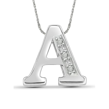 Yours Truly Diamond Accent Sterling Silver Initial (Sirena Diamond Necklace)