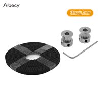 Aibecy 3D Printer Tool Kit 16 Teeth 20 Teeth Timing Aluminum Pulley Wheels 2 Meters Timing GT2 Belt Hexagon Wrench Accessory Parts Suite for 3D Printer