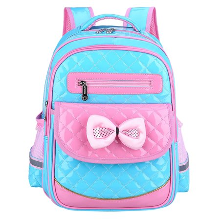 Cute Girls Backpacks, Faux Leather School Bags Lovely Princess Daypack Backpack Book Bags for Kids Girls