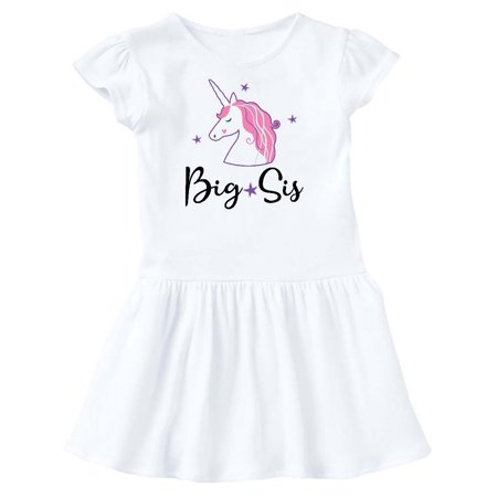 Big Sis Unicorn Girls Sister Announcement Toddler (Dress Sister Sam)