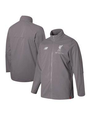 15f4f4a1 Product Image Liverpool New Balance 2018/19 Elite Training Precision Full- Zip Rain Jacket - Gray