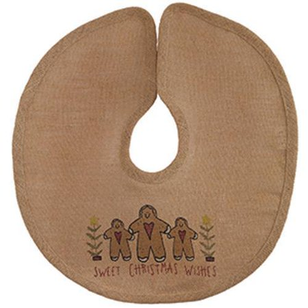 Sweet Gingerbread Man - SWEET CHRISTMAS WISHES Gingerbread Man Burlap Christmas Tree Skirt 16