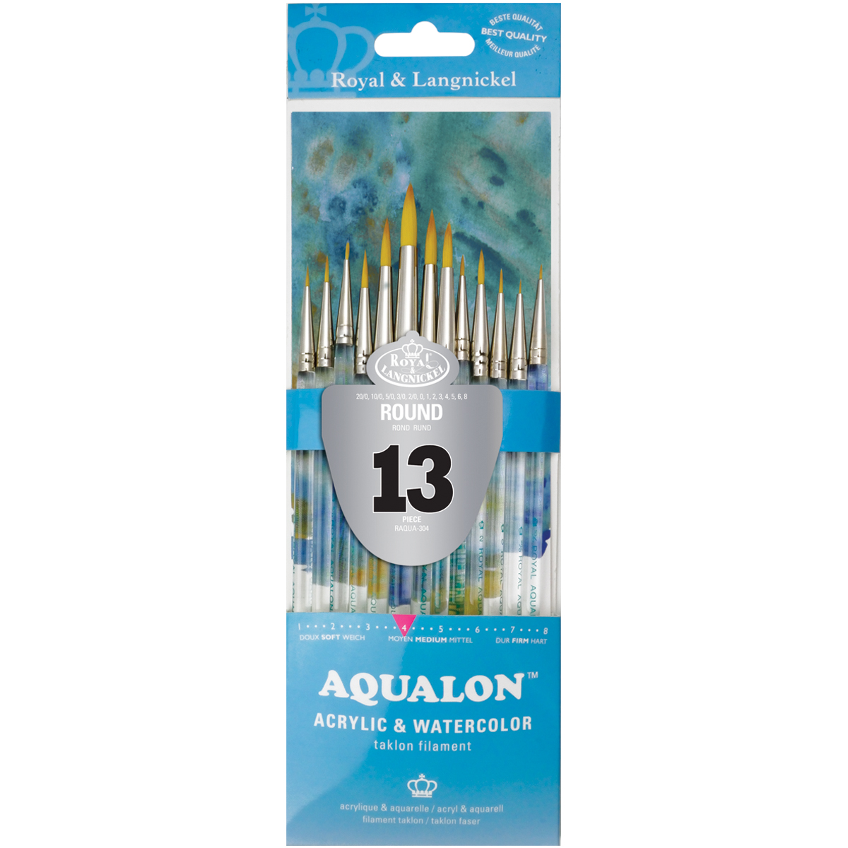 Aqualon Value Pack Brush Set-Round 13/Pkg