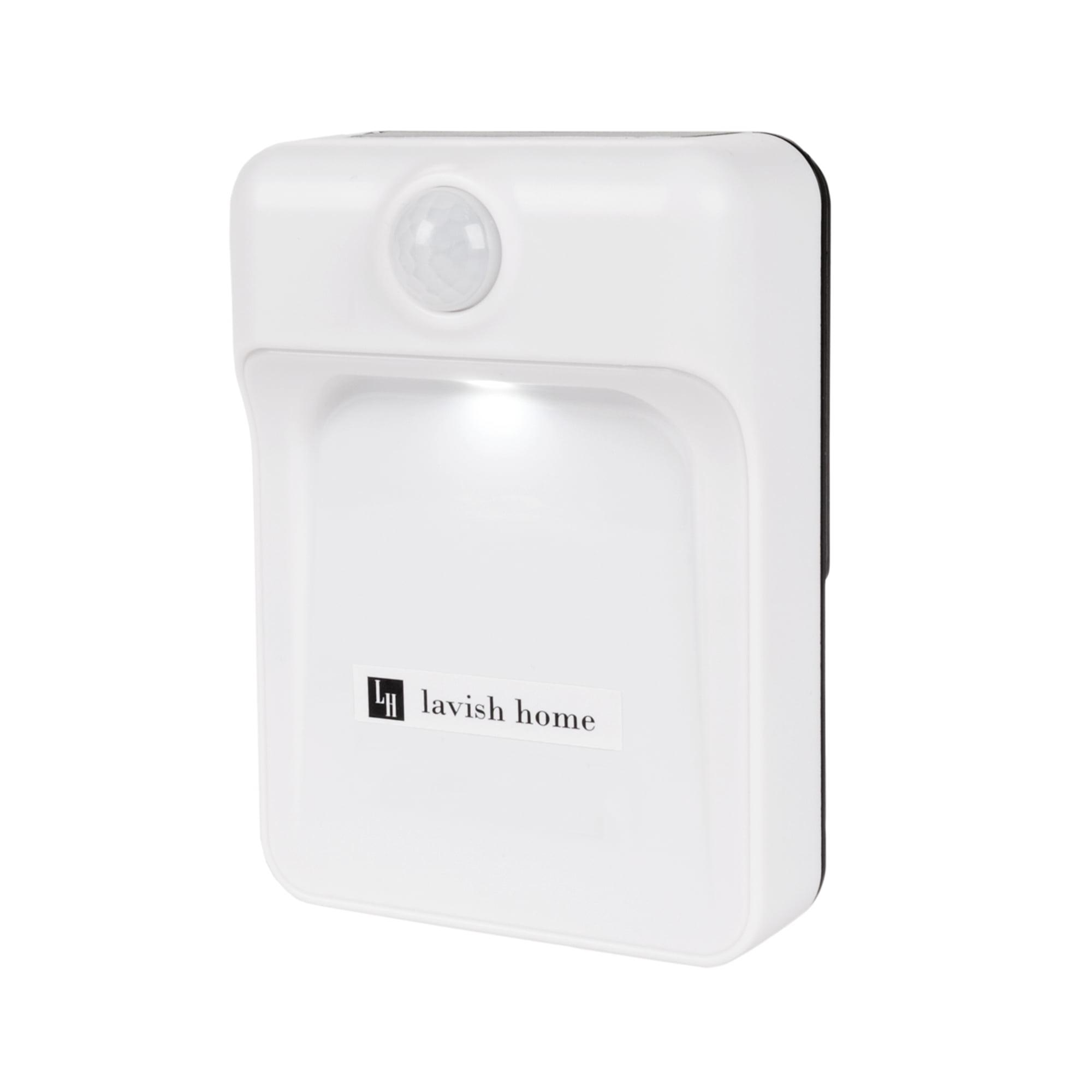 battery powered led motion sensor indoor night light by lavish home. Black Bedroom Furniture Sets. Home Design Ideas