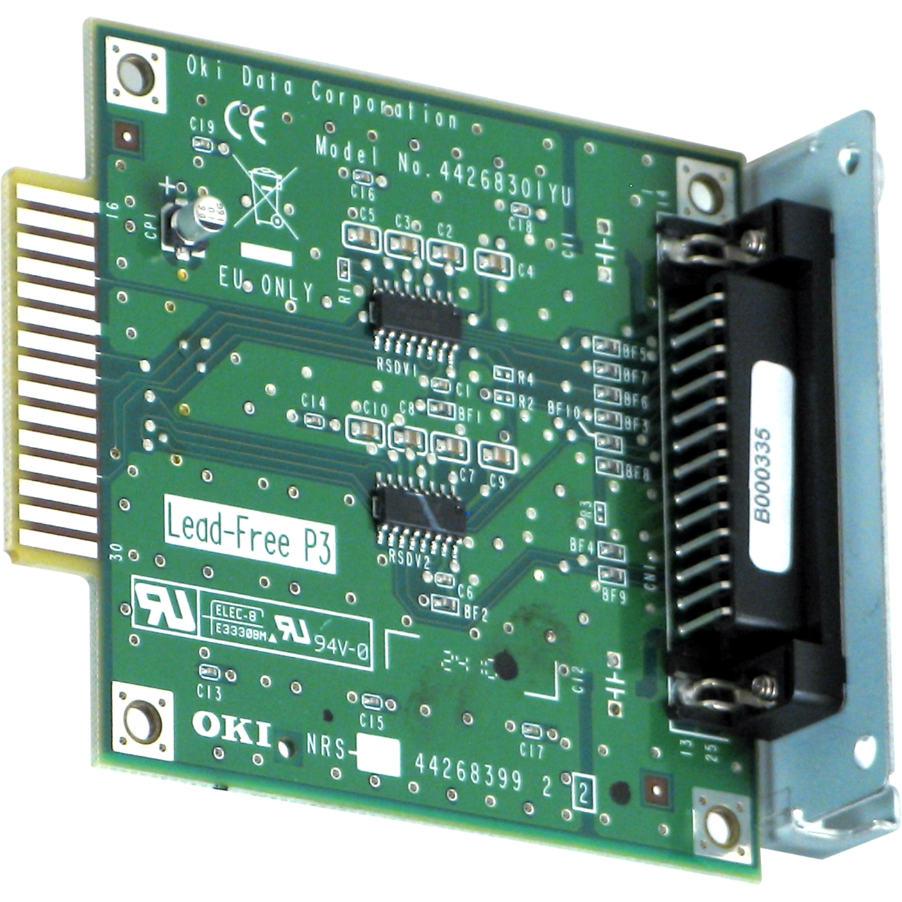 OkiData 44455101 Rs-232c Serial Card For Ml600 Ctlr Series