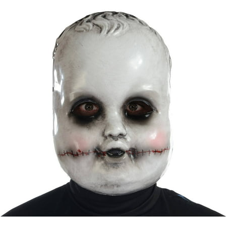 Smiling Sammie Doll Mask Adult Halloween Accessory - Smiling Halloween Mask