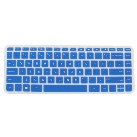 Computer Silicone Anti Dust Protector Skin Keyboard Cover Blue for HP 14 inch ()