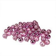 "60ct Bubblegum Pink Shatterproof 4-Finish Christmas Ball Ornaments 2.5"" (60mm)"