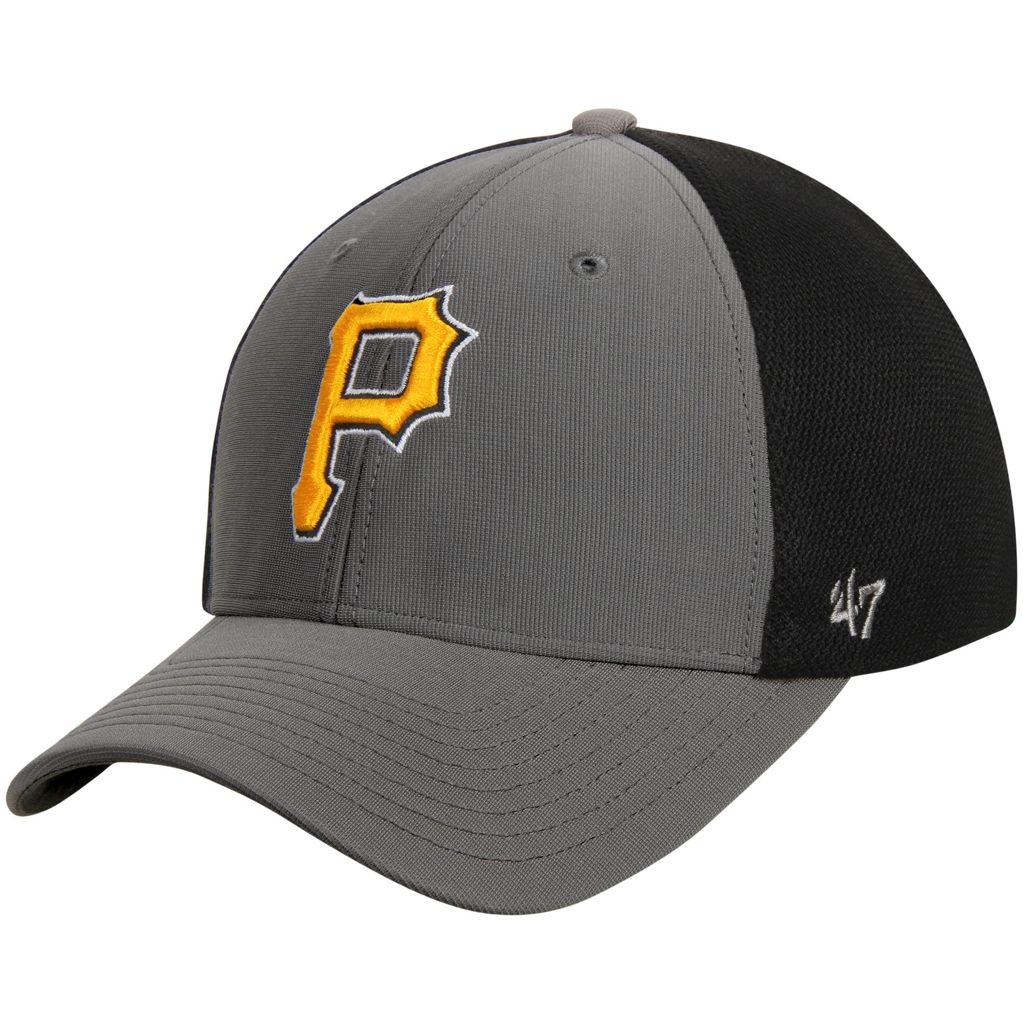 Pittsburgh Pirates '47 Talis MVP Adjustable Hat - Dark Gray/Black - OSFA