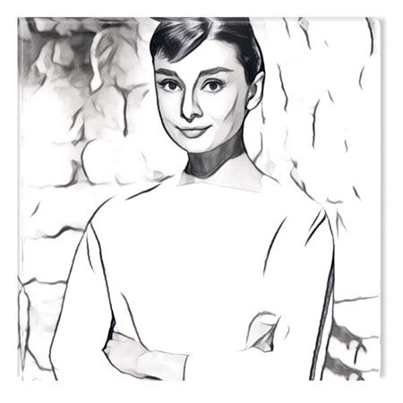 Startonight Canvas Wall Art Black and White Abstract Audrey Hepburn ...