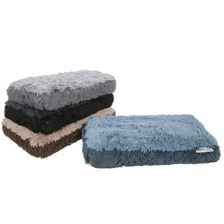 Paws & Pals Fuzzy Dog or Cat Pet Bed - Deluxe Premium Bedding Cushion Two-Toned Design ()