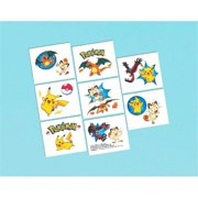 Pokemon 30340555 Pikachu and Friends Party Favor Tattoos