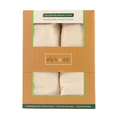organic playard pack n play portable mini crib sheet 100 gots