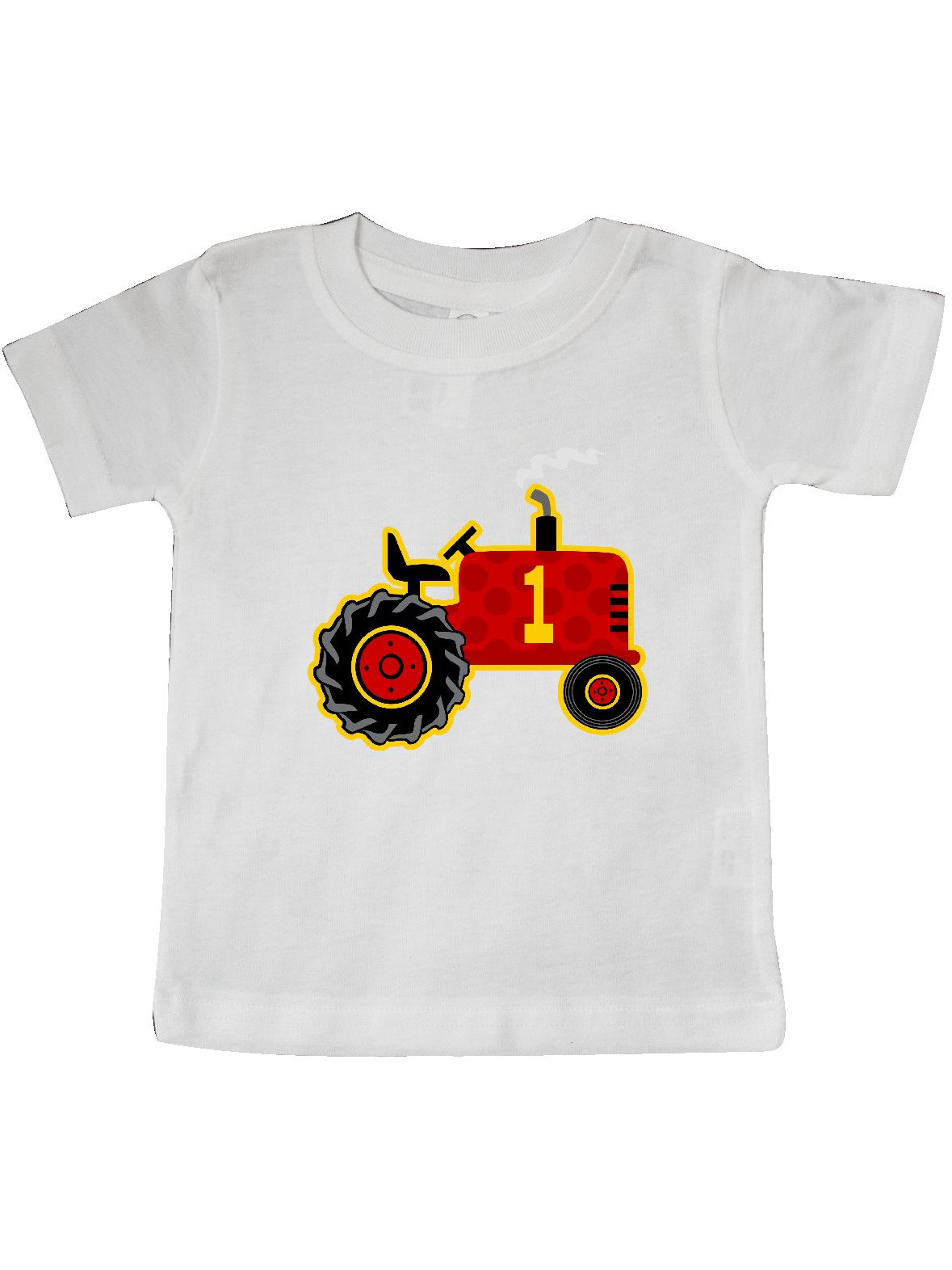 Red Tractor 1st Birthday Baby T-Shirt