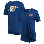 Oklahoma City Thunder New Era Women's Side-Tie Slub T-Shirt - Blue