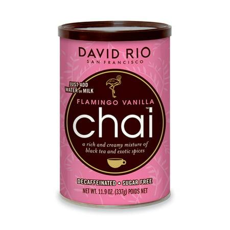 - David Rio Flamingo Vanilla Decaf Sugar-Free Chai, Powdered Tea, 11.9 Oz