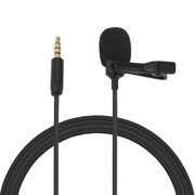 Omni-directional Electret Condenser Lavalier Microphone with 3.5mm TRRS Cable