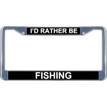 I 39 d rather be fishing license frame free screw caps for Fishing license walmart