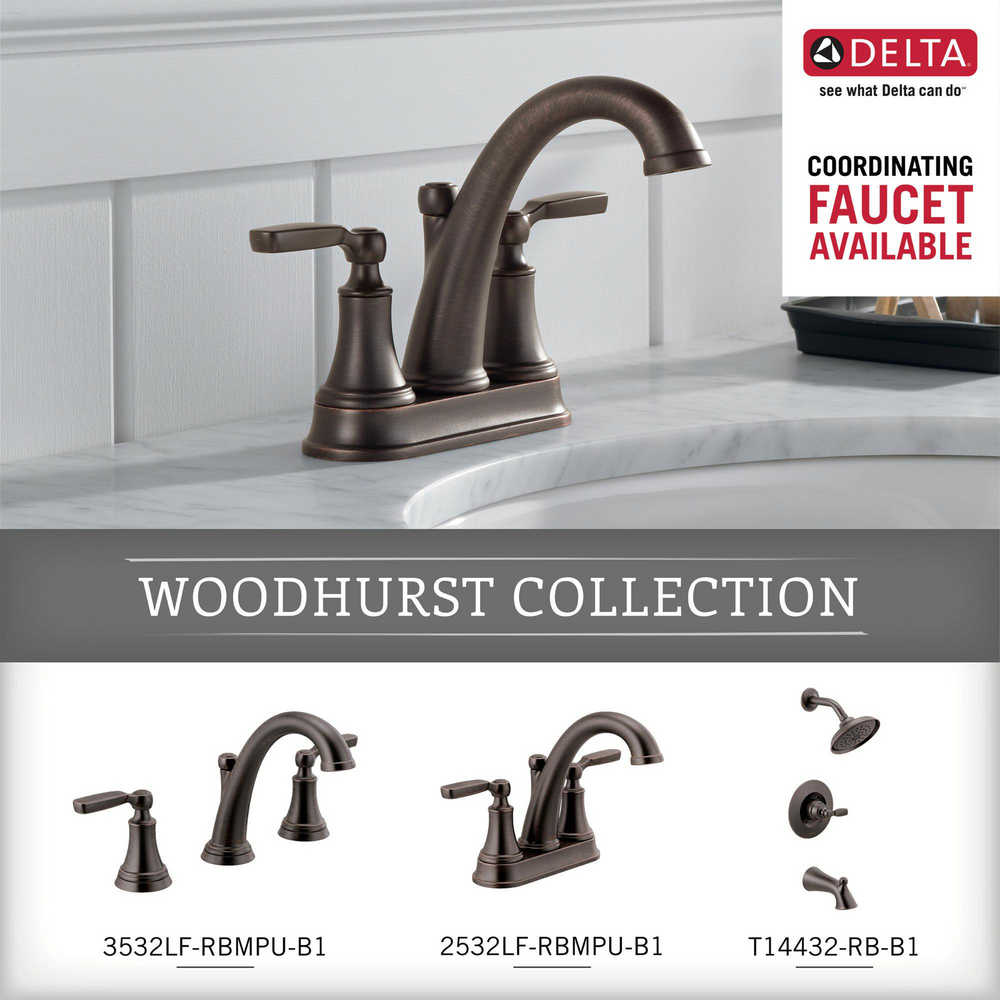 Venetian Bronze Delta Faucet 73246-RB Woodhurst Towel Ring