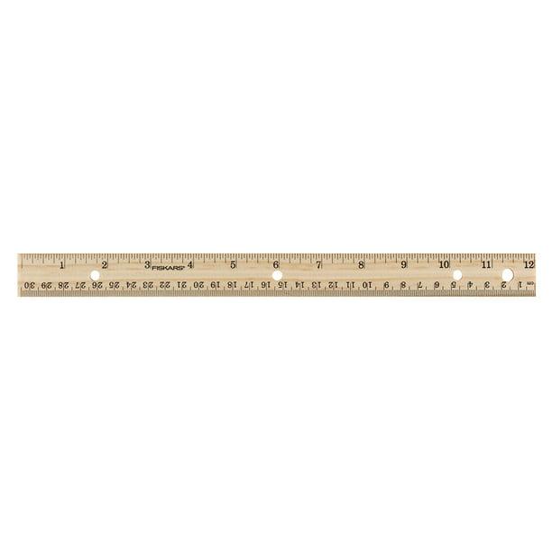 Fiskars 12 Inch Wooden Ruler 1 Each 153590 4001 12 Walmart Com Walmart Com