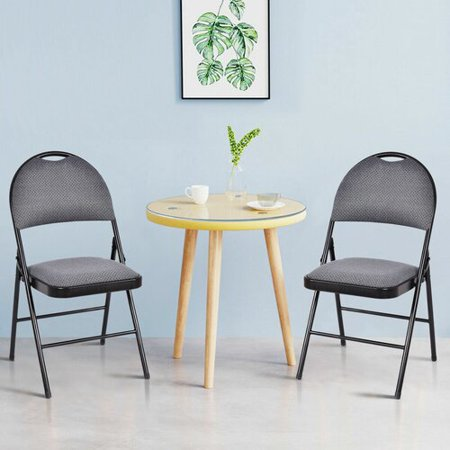 Costway Fabric Padded Folding Chair (Set of 6)