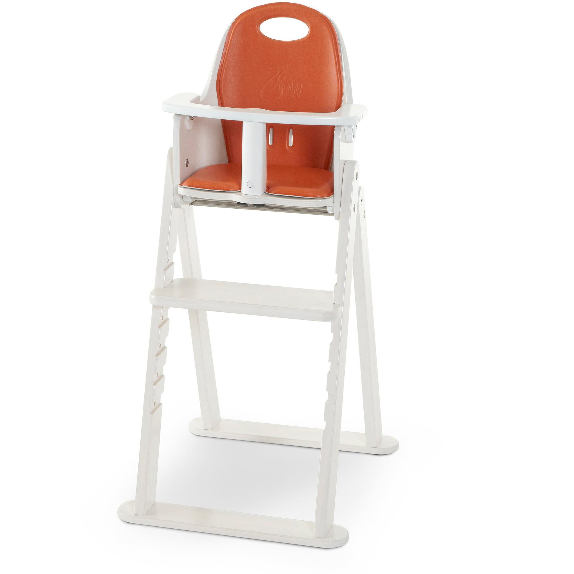 Svan Baby To Booster Bentwood High Chair, White/Tangerine Cushion    Walmart.com