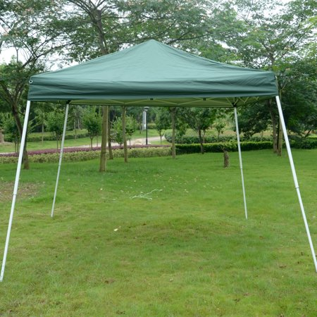 Outsunny 10' x 10' Slant Leg Pop Up Canopy Tent - Green