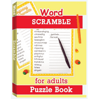 Word Scramble Puzzle Book for Adults: Large Print Word Puzzles for Adults, Jumble Word Puzzle Books, Word Puzzle Game (Paperback)(Large Print)