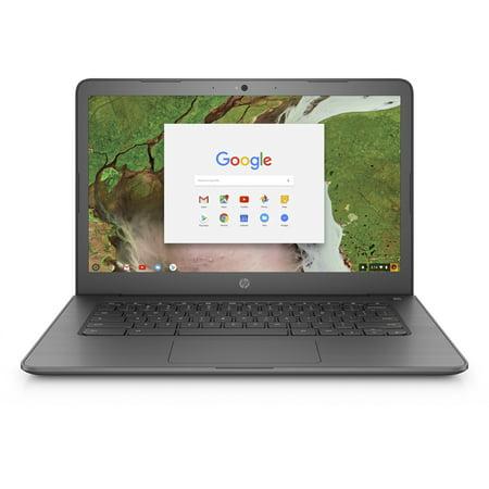 HP 14-CA020NR Chalkboard Gray 14 inch HD Chromebook, Chrome OS, Celeron N3350 DC Processor, 4GB Memory, 16GB eMMC Storage, UMA graphics, B&O