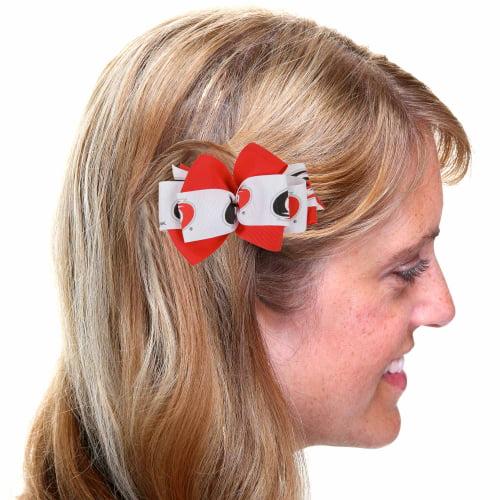Carolina Hurricanes Mary Loop Bow - Red/White - No Size