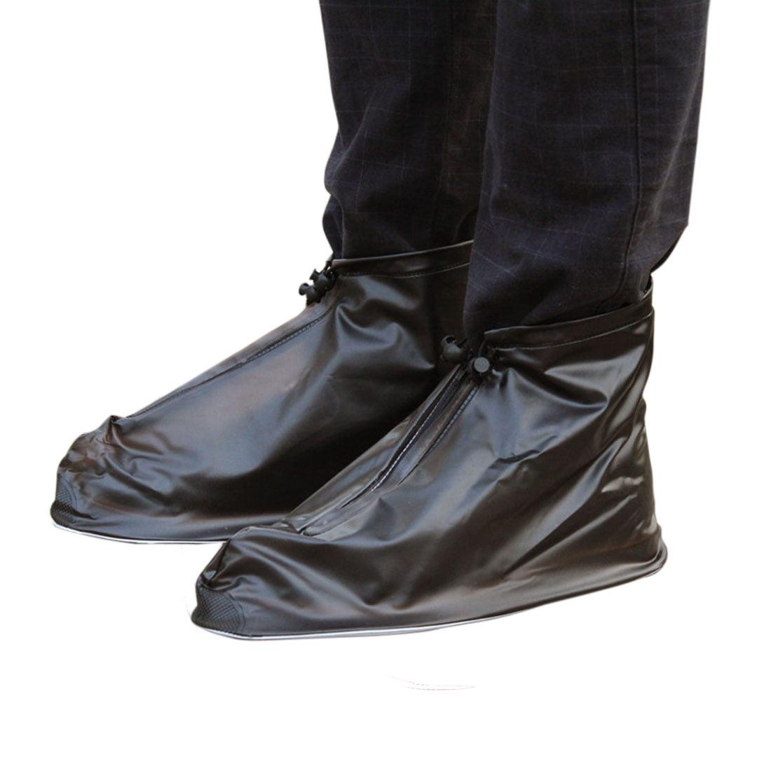 Pair Coffee Color Size XXL PVC Nonslip Reusable Rain Shoes Cover Guard Overshoes by Unique Bargins