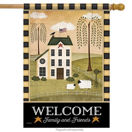 - Country Welcome Primitive House Flag 28