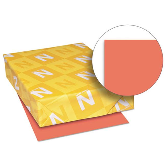 Wausau Papers 26751 8.5 x 11 Exact Brights Paper, Bright Red