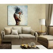 "Cortesi Home ""Deliberation"" by Mario Sanchez Nevado, Giclee Canvas Wall Art, 18"" x 18"""