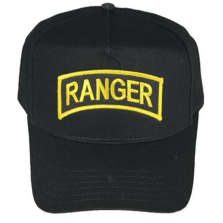 US ARMY RANGER TAB HAT CAP VETERAN SOLDIER LEAD THE WAY BLACK GOLD SPEC - Soldier Hat
