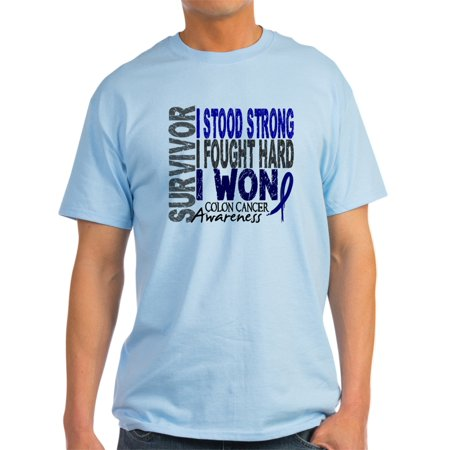 8a351696d0 CafePress - Survivor 4 Colon Cancer Shirts And Gifts Light T-S - Light  T-Shirt - Walmart.com