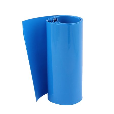 Unique Bargains 3.3ft 103mm Flat 65mm Dia PVC Heat Shrink Tubing Blue for 18650 Battery Blue Heat Shrink Tubing