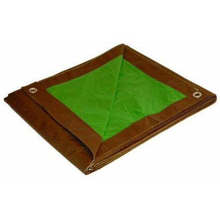 Green & Brown Cut Size Reversible Tarp, 8 x 10 ft. - image 1 of 1