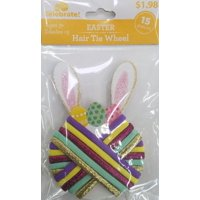 Way To Celebrate Easter Hair Tie Wheel, 15 Count