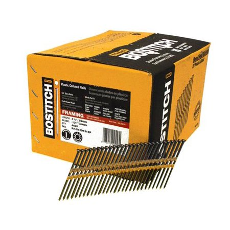"""Bostitch RH-S12D131EP 3-1/4"""" Smooth Shank 21° Plastic Collated Stick Framing Nail"""