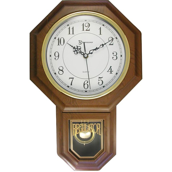 Schoolhouse Chime Wall Clock With Pendulum