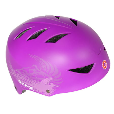 Razor Youth, 2 Cool Multi-Sport Helmet, Purple, For Ages 8-14 (Adjustable Kids Helmet)