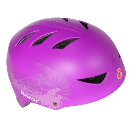 Razor Youth, 2 Cool Multi-Sport Helmet, Purple, For Ages 8-14 (Youth Riding Helmet)