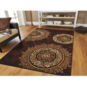 Contemporary Area Rugs Large 8x11 Floor Clearance Brown Black
