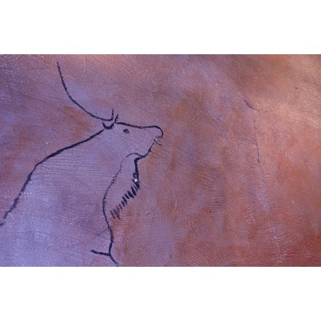 Canvas Print Old Antique Painting Cave Painting Stretched Canvas 10 x