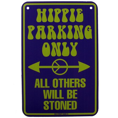 Tin Hippie Parking Only Others Stoned Sign Funny Garage/Shop Wall Hippies Decor (Hippie Decor Stores)