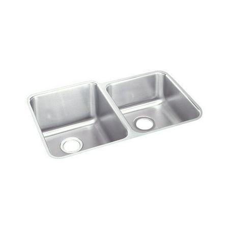 Elkay Gourmet 31.25'' x 20.5'' Undermount Kitchen - Elkay Gourmet Undermount Kitchen Sink